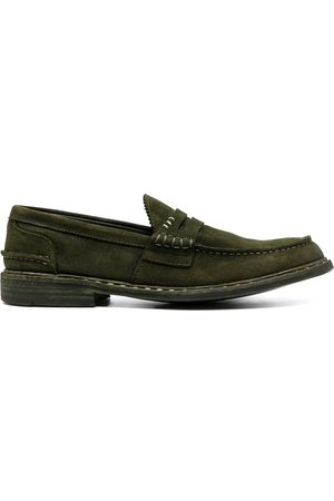 Premiata Contrast-stitching suede loafers