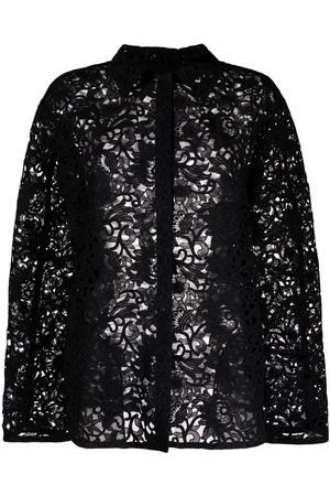VALENTINO Floral-lace shirt jacket
