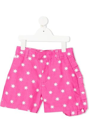 Nº21 Star-print ruffle-trim shorts