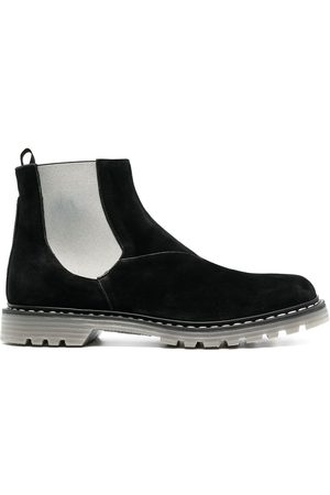 Premiata Homem Botas - Contrast-panel leather boots