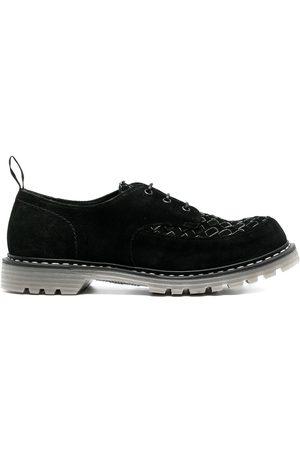 Premiata Homem Sapatos - Interwoven-detail leather lace-up shoes