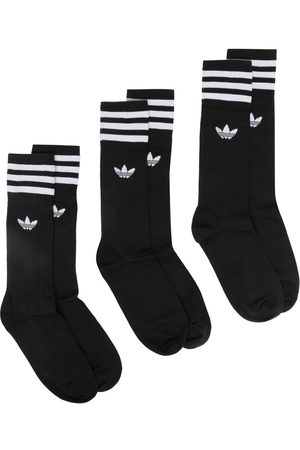 adidas Signature three stripe 3 pack socks