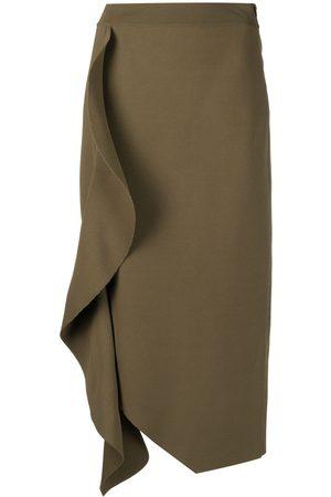 Alexander McQueen Senhora Saias-lápis - Draped high-waisted pencil skirt