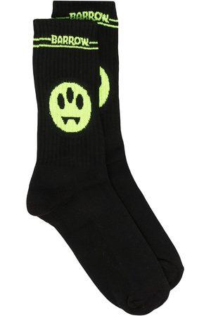 BARROW Homem Meias - Logo intarsia mid-calf socks