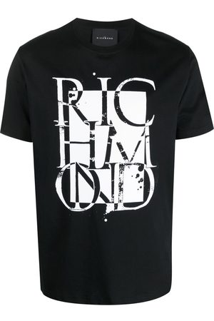 John Richmond Homem T-shirts & Manga Curta - Graphic logo-print T-shirt