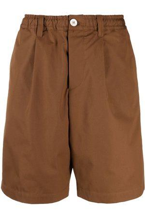Marni Homem Bermudas - Wide-leg cotton shorts