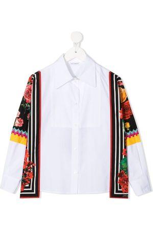 Dolce & Gabbana Menina Camisas - Scarf-detail shirt