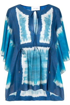 Alberta Ferretti Senhora Beachwear - Panelled cotton beach cover-up