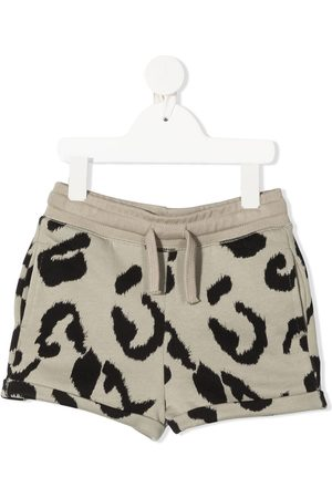 Stella McCartney Leopard print track shorts