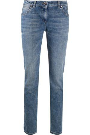 Brunello Cucinelli Senhora Retos - High-rise straight leg jeans