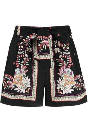 Twin-Set High-rise paisley-print shorts