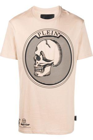 Philipp Plein Homem T-shirts & Manga Curta - Skull-print cotton T-Shirt