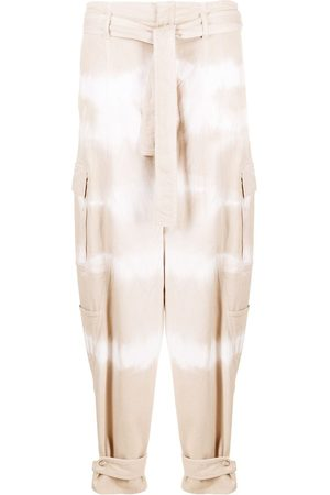 Stella McCartney Tie-dye belted tapered jeans