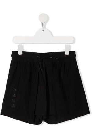 DKNY Menina Calções - TEEN logo-printed shorts