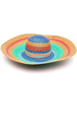 Missoni Senhora Chapéus - Stripe-print sun hat