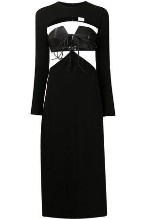 DION LEE Cady Macrame long-sleeved dress