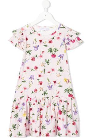 MONNALISA Menina Vestidos Casual - Floral print ruffle dress