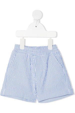 MONNALISA Bebé Calções - Pinstripe cotton shorts