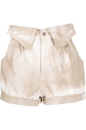 Stella McCartney Tie-dye denim shorts