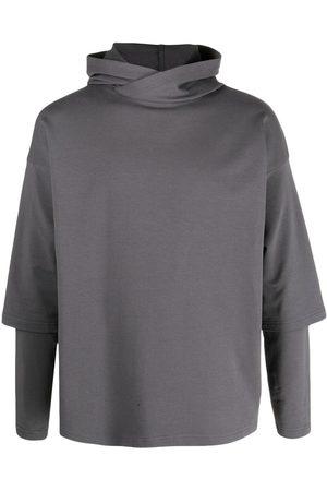 Alchemy Homem Camisolas com capuz - Layered drop-shoulder hoodie