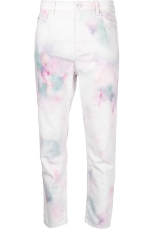 Isabel Marant Abstract-print cropped trousers