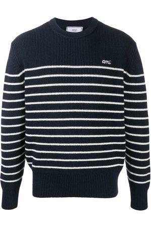 Ami Rib-knit striped jumper