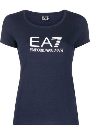 EA7 Logo-print scoop neck T-shirt