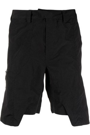 HELIOT EMIL Homem Bermudas - Asymmetric straight-leg shorts