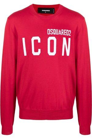 Dsquared2 ICON logo intarsia jumper