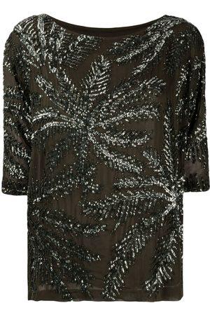 P.a.r.o.s.h. Senhora Blusas - Embellished shift blouse