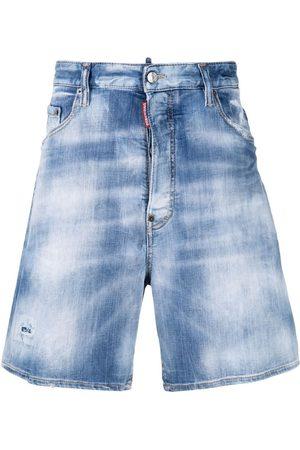 Dsquared2 Homem Calções - Stonewashed distressed denim shorts
