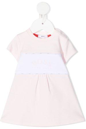 HUGO BOSS Two-tone logo dress