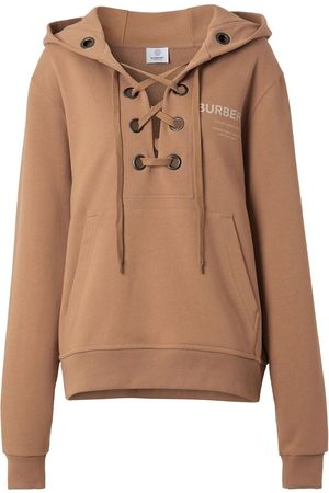 Burberry Lace-up cotton hoodie