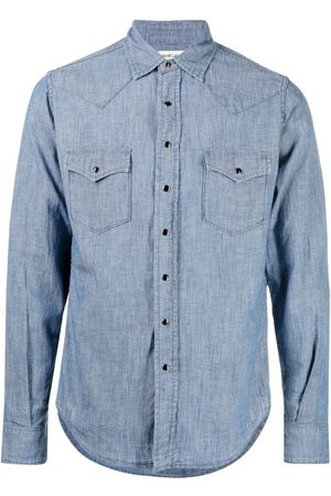 Saint Laurent Homem Formal - Chambray button-up shirt