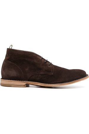 Officine creative Lace-up suede derby shoes