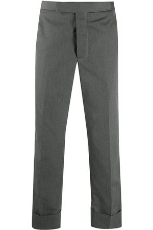 Thom Browne Homem Calças Formal - Cropped tailored trousers