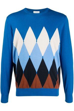 BALLANTYNE Argyle-pattern cashmere jumper