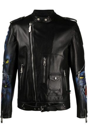 Philipp Plein Homem Casacos de Pele - Iconic leather jacket