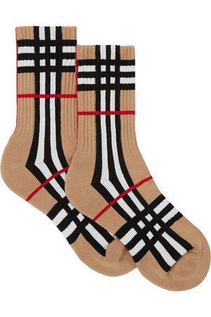Burberry Check-intarsia socks