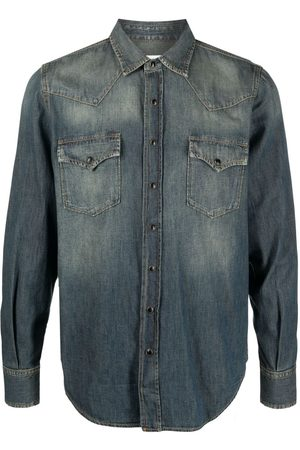 Saint Laurent Homem Ganga - Western denim shirt