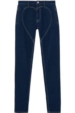 Burberry High-rise heart-motif skinny jeans