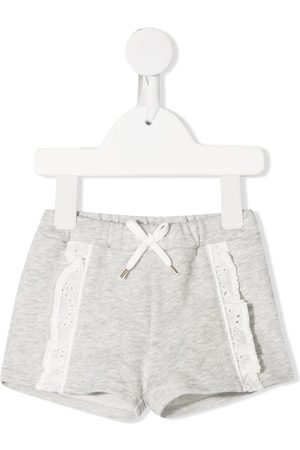 Chloé Embroidered-trim cotton shorts