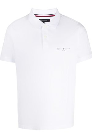 Tommy Hilfiger Homem Formal - Logo print cotton polo shirt