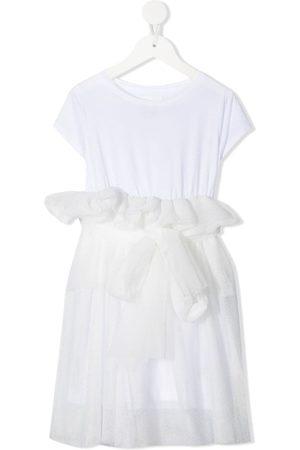 DOUUOD KIDS Ruffled-tulle T-shirt dress