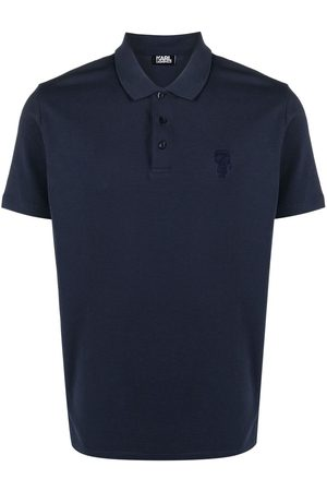 Karl Lagerfeld Homem Formal - Embroidered-logo cotton polo shirt