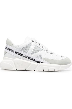 Love Moschino Logo-tape mesh-panel trainers