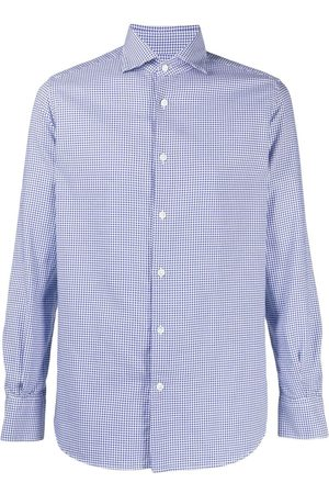 Glanshirt Check-print button-up shirt