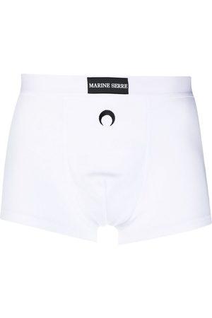 Marine Serre Homem Boxers - Ribbed stretch-organic cotton boxers