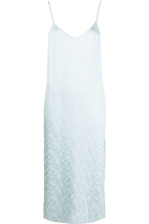Palm Angels Senhora Vestidos Casual - Monogram-print slip dress