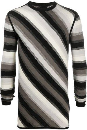 Rick Owens Diagonal stripe sweater